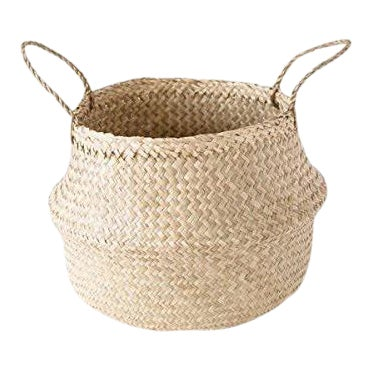 Medium Seagrass Belly Basket For Sale