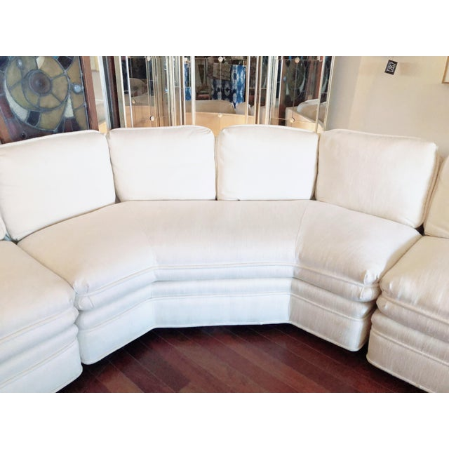 Vintage 1984 White Sherrill Sectional Sofa For Sale In Chicago - Image 6 of 11
