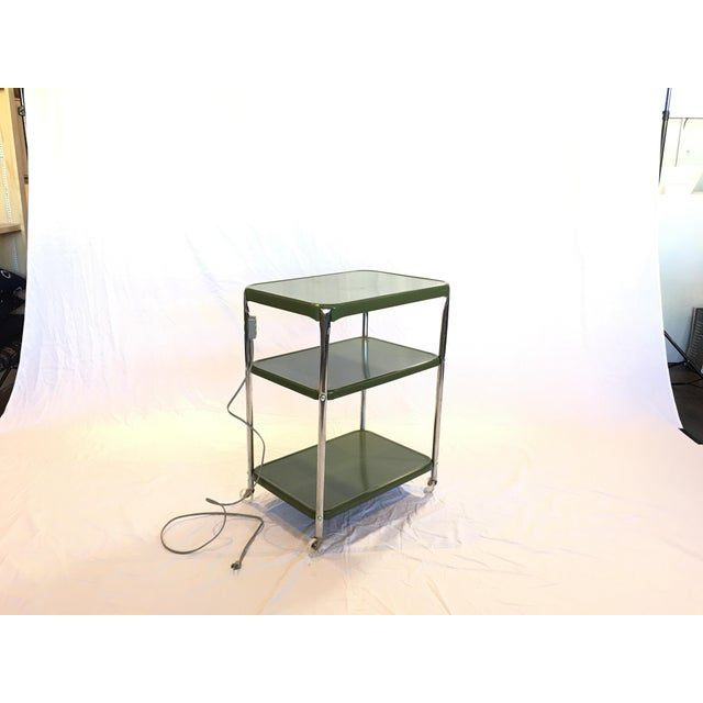 Metal Cosco Rolling Bar Cart - Image 4 of 5