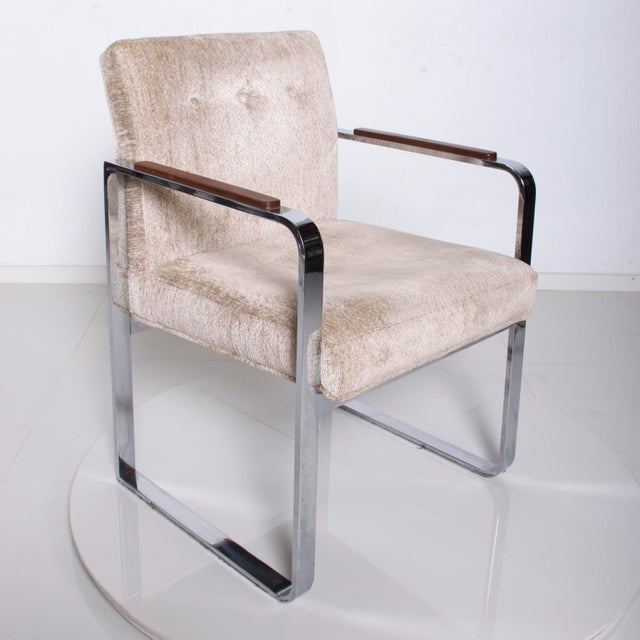 For Your Consideration: Set of 4 Dining Chairs Mid Century Modern by Milo Baughman, for Thayer Coggin. Note special accent...