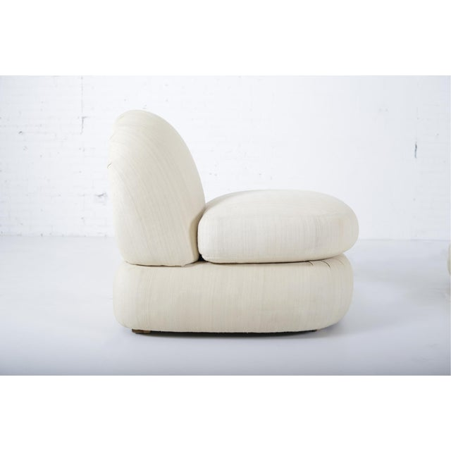 1970s Stacked Pouf Slipper Chairs - a Pair For Sale In Chicago - Image 6 of 9