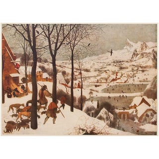 "First Edition Lithograph ""The Hunters in the Snow"" by P. Bruegel, 1950s For Sale"