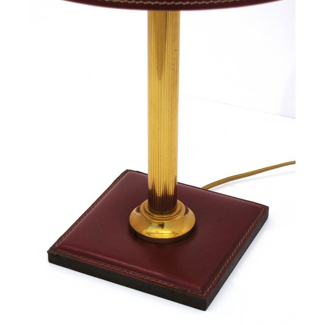 Jacques Adnet Leather-Clad Table Lamp - Image 4 of 8