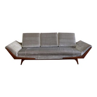 1960's Vintage Adrian Pearsall for Craft Associates Gondola Sofa For Sale