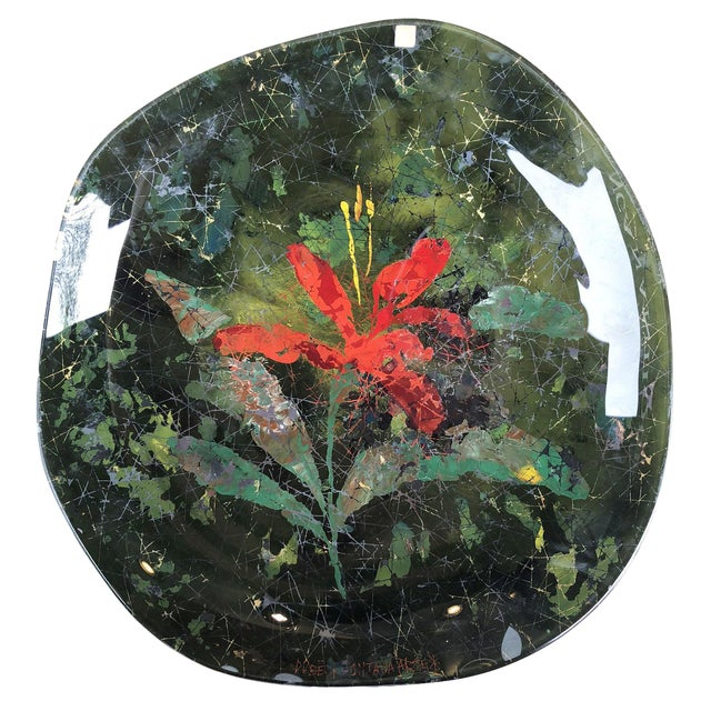 """Fontana Arte """"Red Lily"""" Center Piece or Wall Decoration by Dube' For Sale"""
