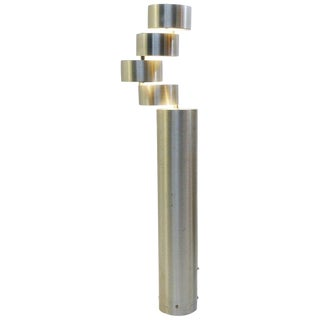 Brushed Metal Floor Lamp by Stilux, Milano, 1972 For Sale