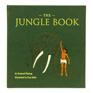 """The Jungle Book"" by Rudyard Kipling, Bonded Leather Book in Green For Sale"