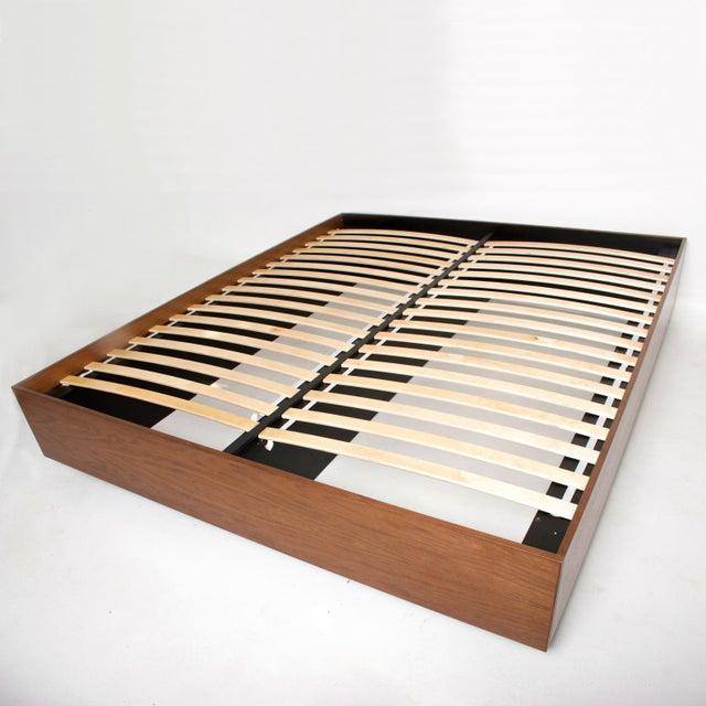 Wood Pablo Romo for Ambianic Custom Bed Frame Cal King Walnut Platform Frame For Sale - Image 7 of 9