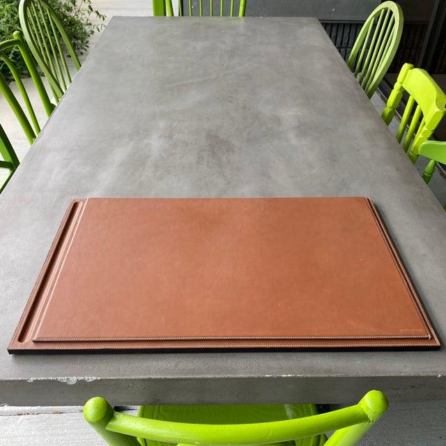 Ralph Lauren Brennan Leather Desk Blotter For Sale - Image 10 of 12