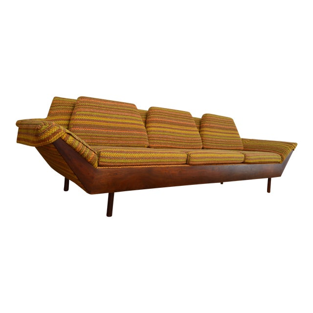 Astounding Flexsteel Mid Century Modern Thunderbird Gondola Sofa Pdpeps Interior Chair Design Pdpepsorg
