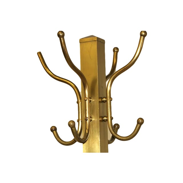 Mid-Century Coat and Hat Stand in Brass - Image 5 of 5