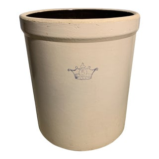 Vintage Earthenware 5 Gallon Pickling Jar For Sale