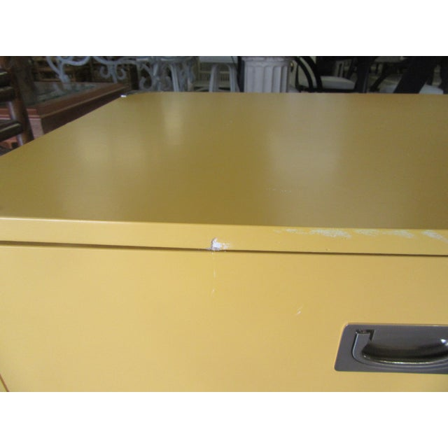Campaign Campaign Yellow Side Tables - a Pair For Sale - Image 3 of 7