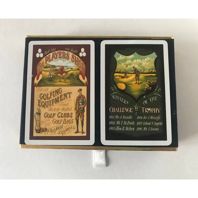 Paper Vintage Golf Scene Motif Congress Playing Cards - Double Deck For Sale - Image 7 of 7