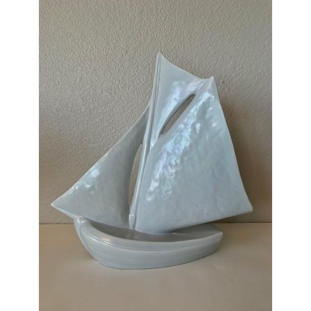 Vintage French Ceramic Sailboat - Image 3 of 11