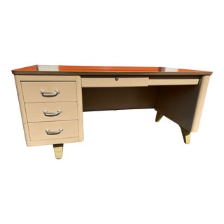 Vintage Cole Steel Metal Desk For Sale