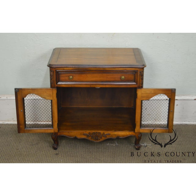 Kindel Furniture Kindel Beauclair French Louis XV Style Vintage Fruitwood Nightstand For Sale - Image 4 of 13