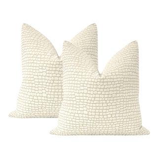 "22"" Cashmere Ocelot Chenille Pillows - a Pair For Sale"