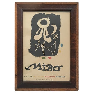 Joan Miro Exhibition Poster - Vintage For Sale