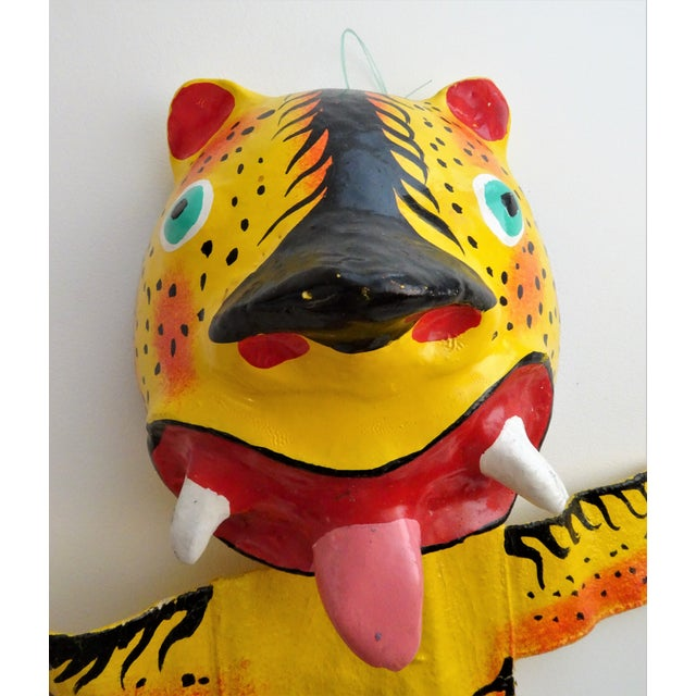 Hand Painted Tiger Sculpture For Sale In Seattle - Image 6 of 11