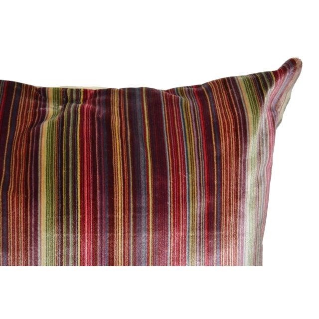 Scalamandre Scalamandré 100% Silk Velvet Rainbow Stripe Pillow For Sale - Image 4 of 10