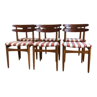 Johannes Andersen Denmark Teak and Oak Dining Chairs - Set of 6 For Sale