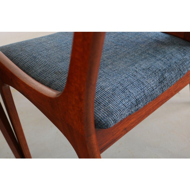 Set of 4 Mid Century Danish Modern Contoured Ladder Back Dining Chairs in Teak For Sale In Orlando - Image 6 of 8