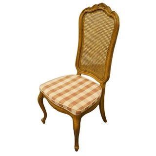 Late 20th Century Thomasville Furniture Camille Collection Cane Back Dining Side Chair Preview