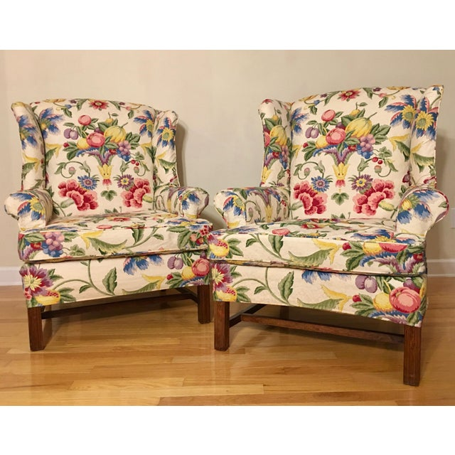Newly Upholstered Georgian Style Wingback Chairs - a Pair For Sale - Image 11 of 11