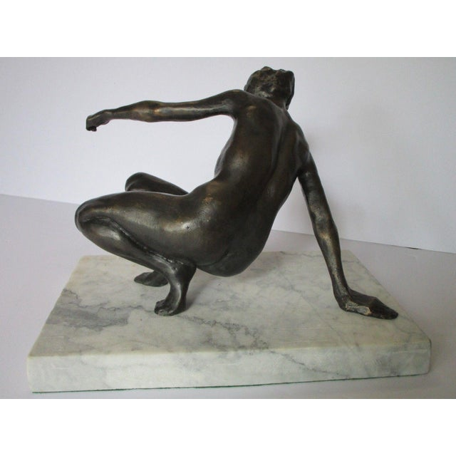20th Century Figurative Nude Bronze Metal Sculpture of Woman For Sale - Image 4 of 7