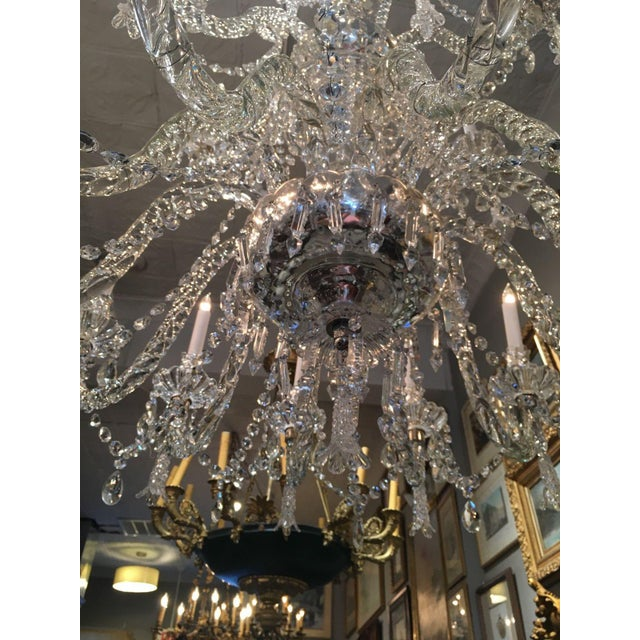 Antique Cut Crystal 18 Light Chandelier - Image 11 of 11