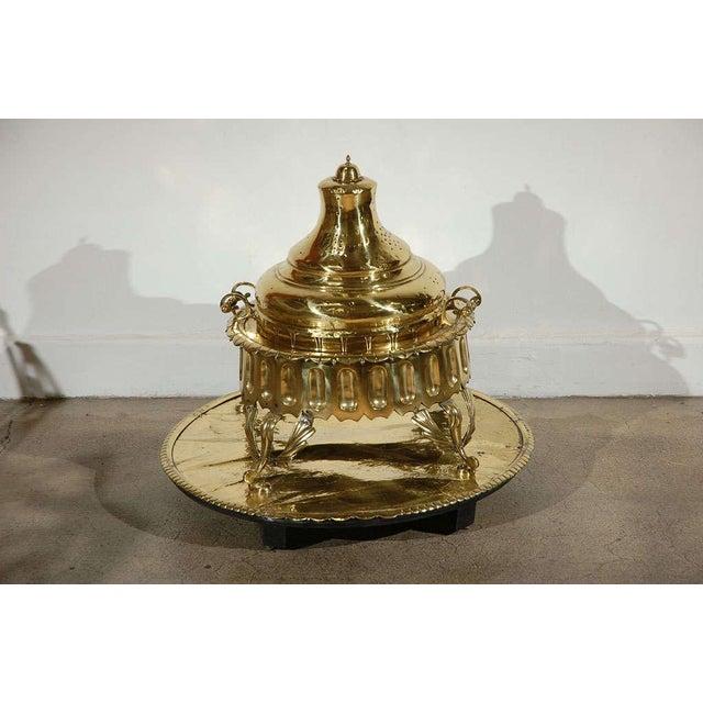 Middle Eastern Polished Brass Incense Burner For Sale - Image 10 of 10
