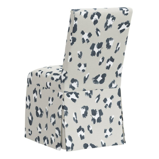 Slipcover Dining Chair in Brush Cheetah Ivory For Sale - Image 4 of 8