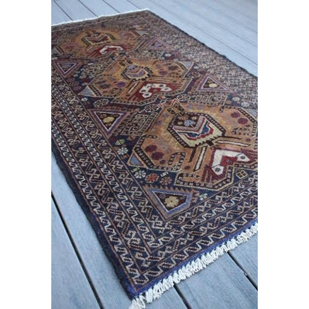 """Vintage Persian Balouch Rug - 2'9"""" X 4'5"""" - Image 3 of 9"""