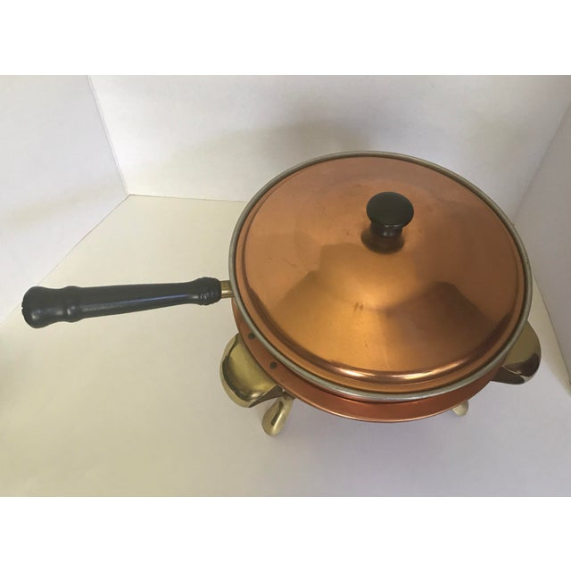 Copper Pan & Heating Stand For Sale - Image 4 of 5