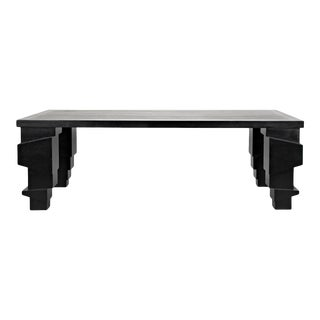 Ulrich Dining Table, Hand Rubbed Black For Sale