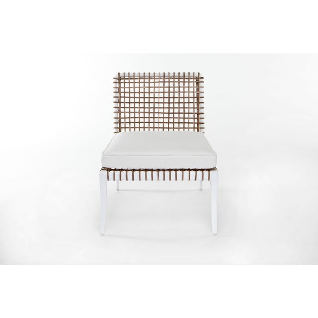 Delta Beta Armless Chair in White For Sale - Image 4 of 5
