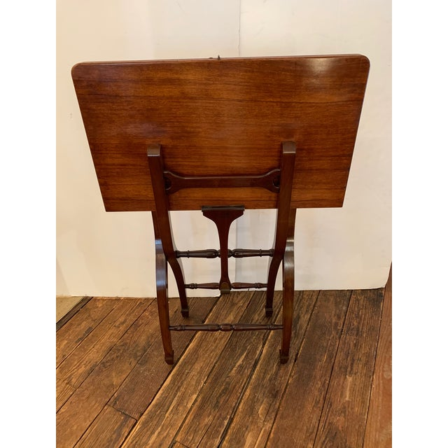 1980s Versatile Campaign Style Mahogany Side or Dining Table For Sale - Image 5 of 13