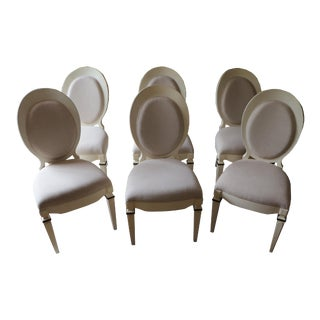 Eclipse Side Chairs by Bunny Williams, Set of 6 For Sale