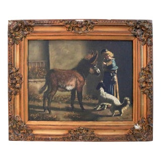 1930s Vintage Remo Bonavenia Framed Oil on Canvas Painting For Sale