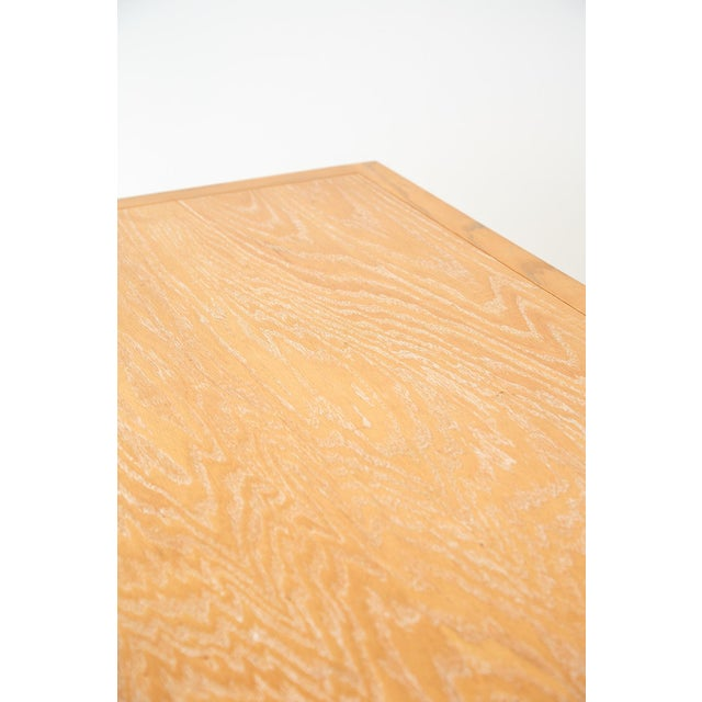Mid-Century Modern Oak Architectural Writing Table Desk For Sale - Image 10 of 13