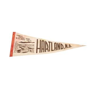 Hartland, NB Covered Bridge Felt Flag For Sale