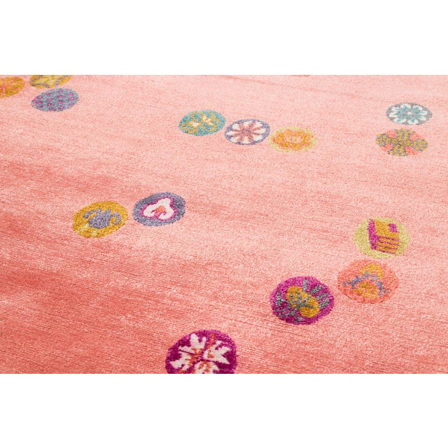 Carini Wool and Silk Rug- 3′ × 6′ For Sale - Image 4 of 9