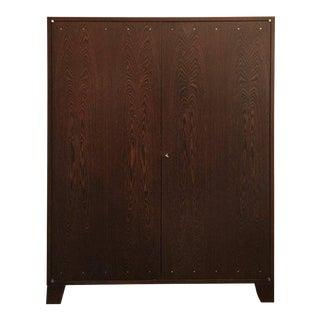JMF Style Two-Door Wenge Wood Cabinet