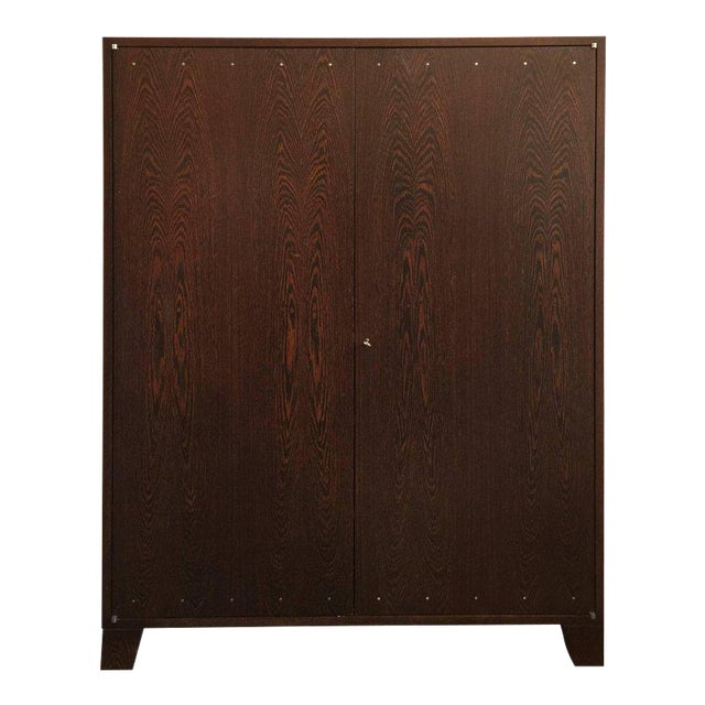 JMF Style Two-Door Wenge Wood Cabinet For Sale