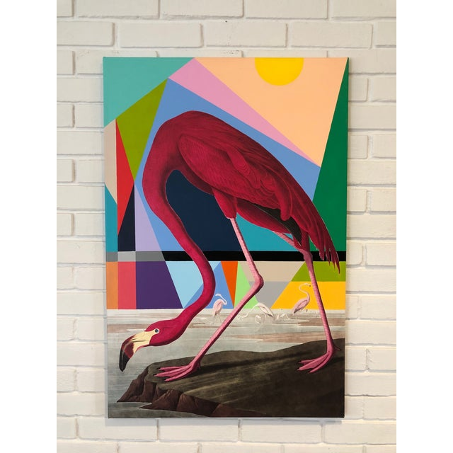 Abstract Modern Flamingo Painting by Tony Curry For Sale - Image 3 of 3
