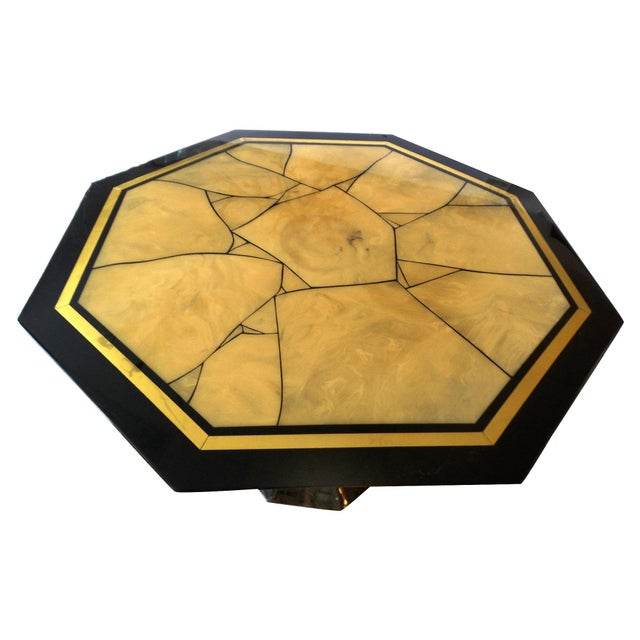 Italian Lacquered Faux-Marble Table - Image 2 of 6