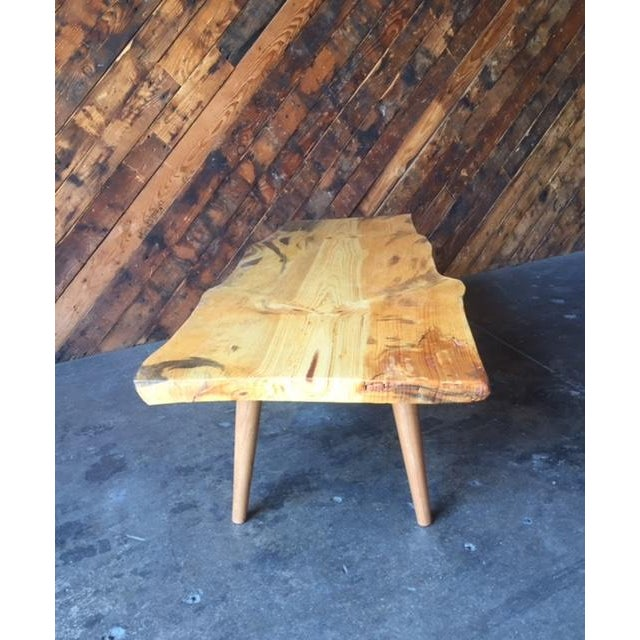 Live Edge Northern California Pine Coffee Table For Sale - Image 5 of 6