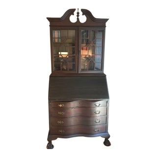 Early 20th Century Antique Governor Winslow Bookcase Desk For Sale