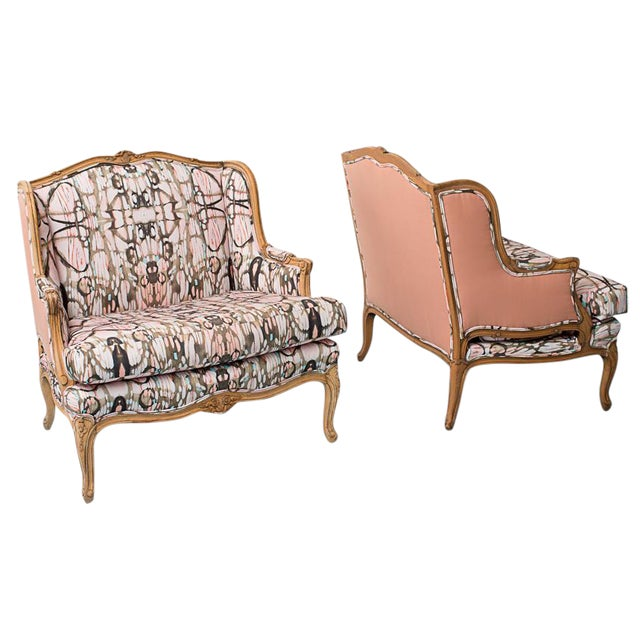 French Provincial Style Arabella Chairs - Pair - Image 1 of 7